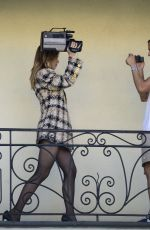 SUKI WATERHOUSE on the Set of a Photoshoot in Los Angeles 09/21/2021