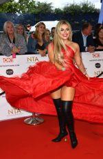 TALLIA STORM at National Television Awards 2021 at O2 Arena in London 09/09/2021
