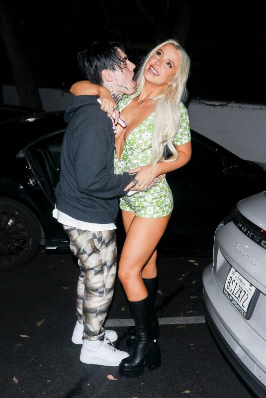 TANA MONGEAU and Chris Miles Night Out in Los Angeles 09/24/2021