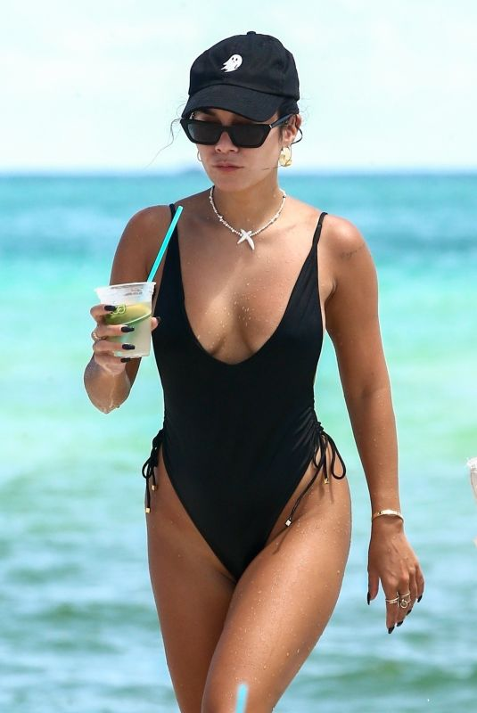 VANESSA HDUGENS in Swimsuit at a Beach in Miami 09/15/2021