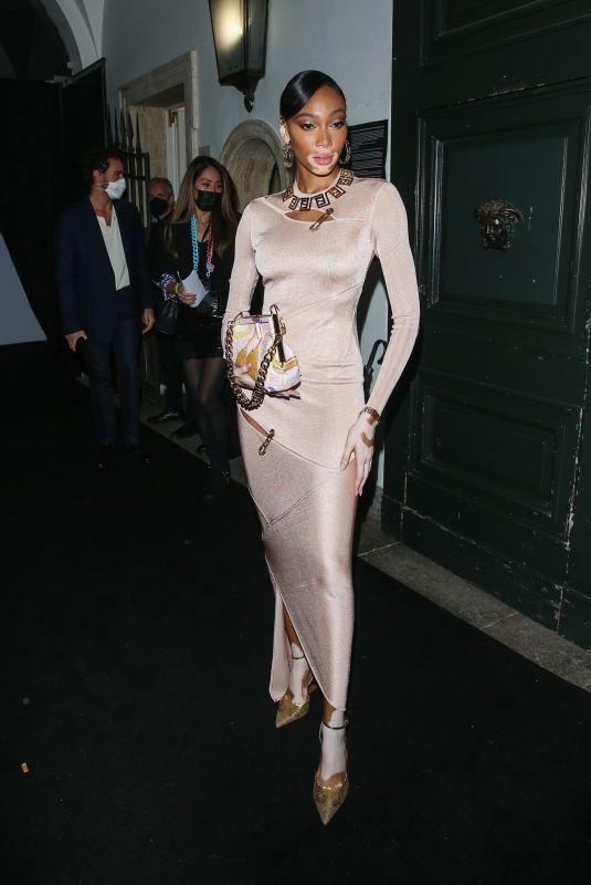 WINNIE HARLOW at Versace/Fendi Private Party in Milan 09/26/2021