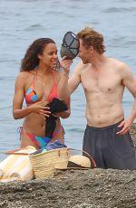 ZAWE ASHTON and Tom Hiddleston at a Beach in Ibiza 09/13/2021