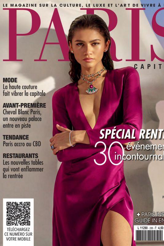 ZENDAYA on the Cover of Paris Capitale Magazine, Septembre 2021