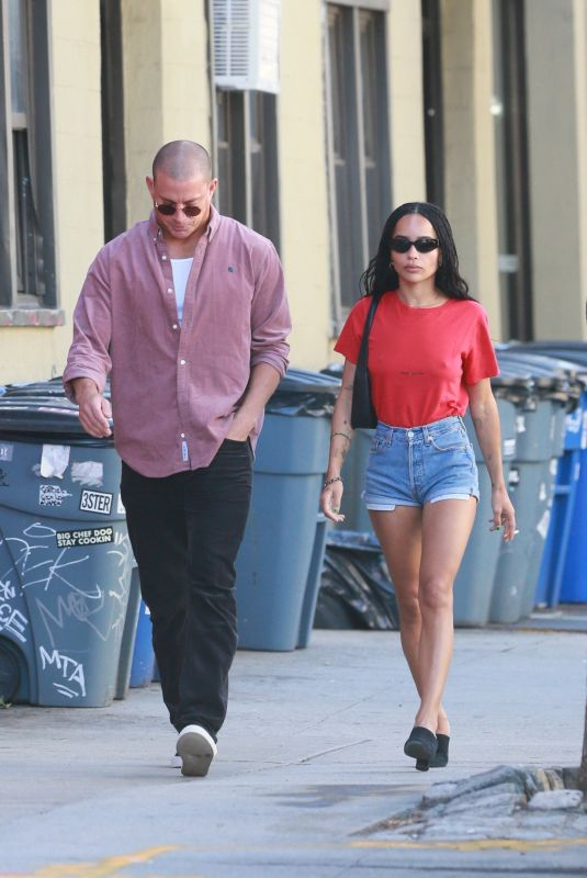 ZOE KRAVITZ and Channing Tatum Out for Lunch in Brooklyn 09/03/2021