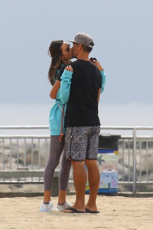 ALESSANDRA AMBROSIO and Richard Lee Kissing at a Beach in Santa Monica 10/07/2021