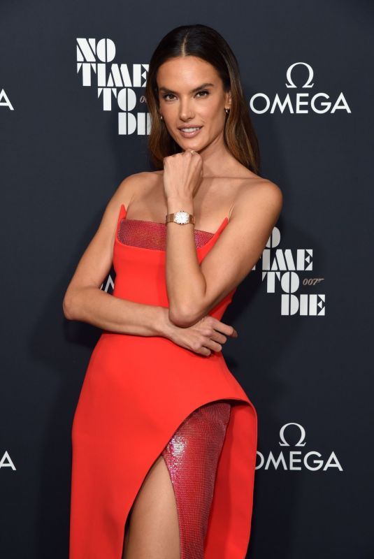 ALESSANDRA AMBROSIO at 007 No Time To Die Release Celebration with OMEGA in Los Angeles 10/06/2021