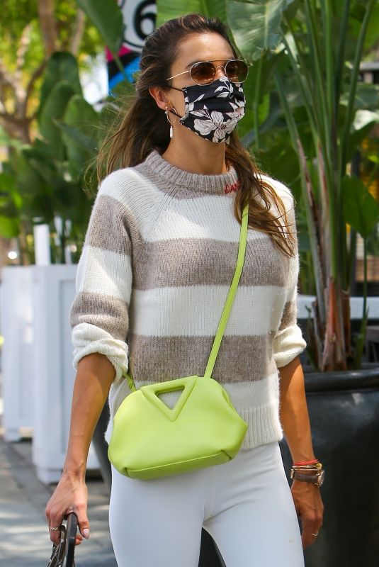 ALESSANDRA AMBROSIO Out in Beverly Hills 10/05/2021