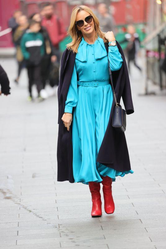 AMANDA HOLDEN Arrives at Heart Radio in London 10/26/2021