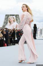 AMBER HEARD at Le Defile L'Oreal Paris 2021 Show at Paris Fashion Week 10/03/2021