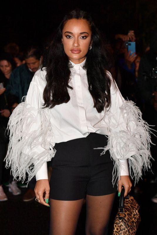 AMINA MUADDI at Valentino Womenswear Spring/Summer 2022 Show at Paris Fashion Week 10/01/2021
