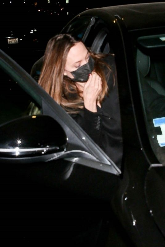 ANELINA JOLIE and Her Ex-husband Jonny Lee Miller Out for Dinner in Beverly Hills 10/11/2021