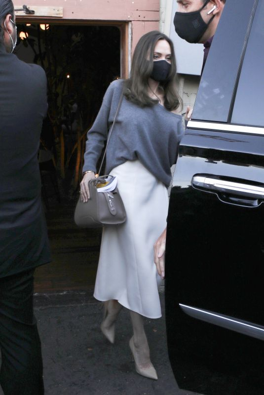 ANGELINA JOLIE Leaves Her Book Signing at Skylight Bookstore in Los Angeles 10/13/2021