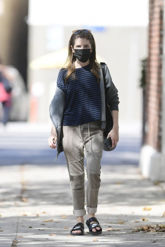 ANNA KENDRICK Out and About in Los Angeles 10/06/2021