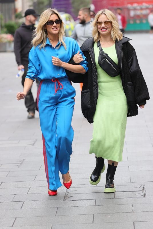 ASHLEY ROBERTS and KIMBERLY WYATT Out in London 10/11/2021