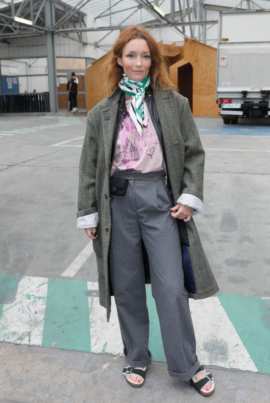 AUDREY MARNAY Arrives at Vivienne Westwood Fashion Show in Paris 10/02/2021