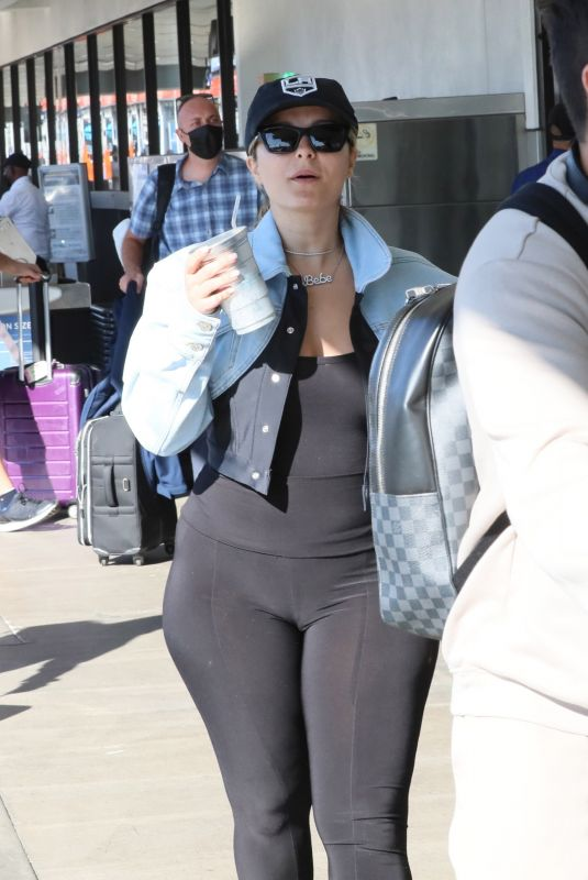 BEBE REXHA Arrives at LAX Airport in Los Angeles 10/05/2021