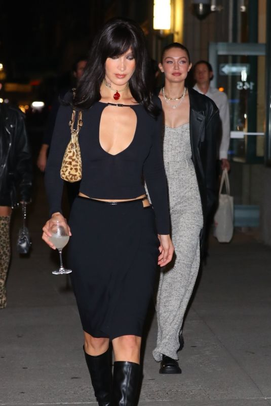 BELLA and GIGI HADID Out for Bella's 25th Birthday in New York 10/09/2021