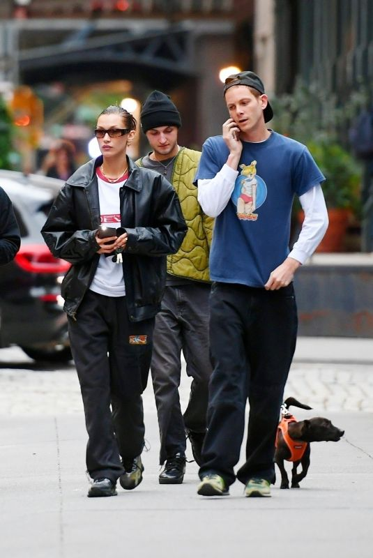 BELLA HADID and Marc Kalman Out in New York 10/05/2021