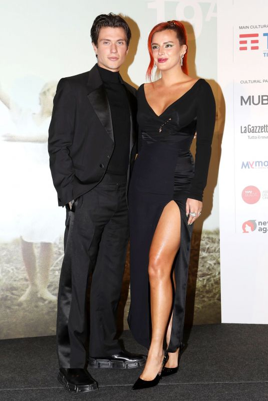 BELLA THORNE and Benjamin Mascolo at Time Is Up Premiere in Rome 10/16/2021