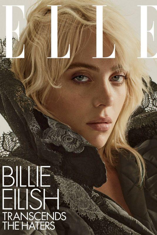 BILLIE EILISH in Elle Magazine, October 2021