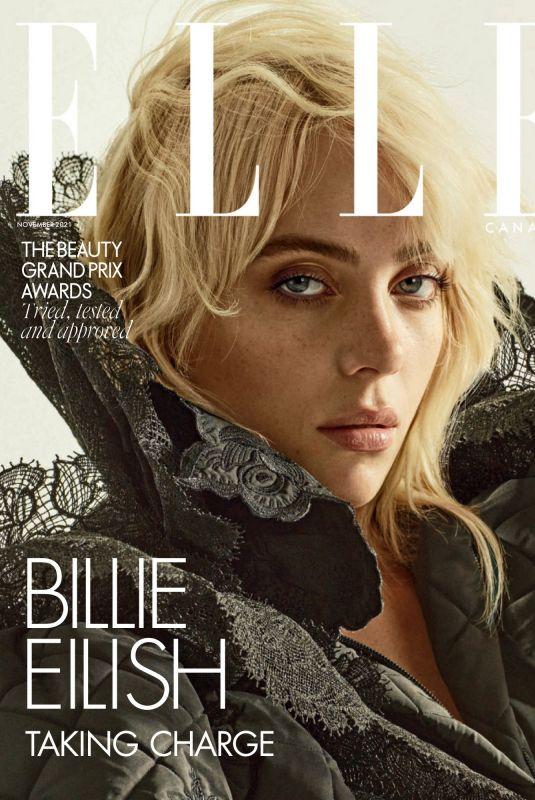 BILLIE EILSIH in Elle Magazine, Canada November 2021