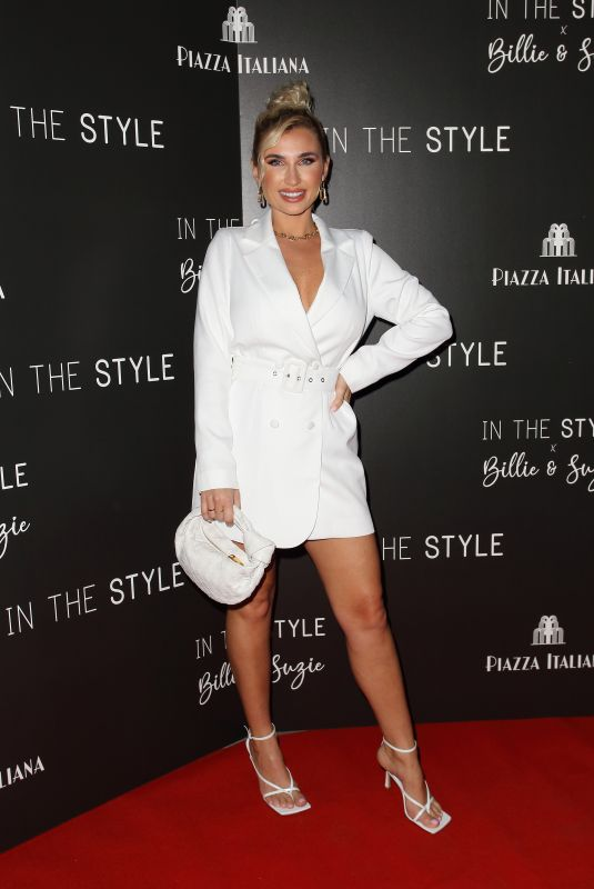 BILLIE FAIERS at In Style Launch Party at Piazza Italiano in London 10/19/2021