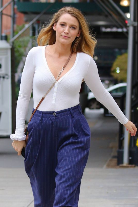 BLAKE LIVELY Out in New York 10/13/2021