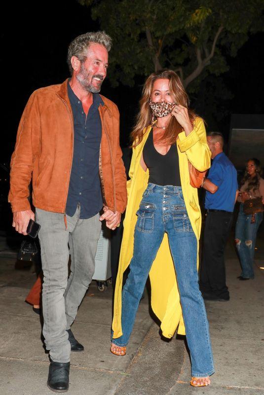 BROOKE BURKE and David Charvet at Craig's in West Hollywood 10/02/2021