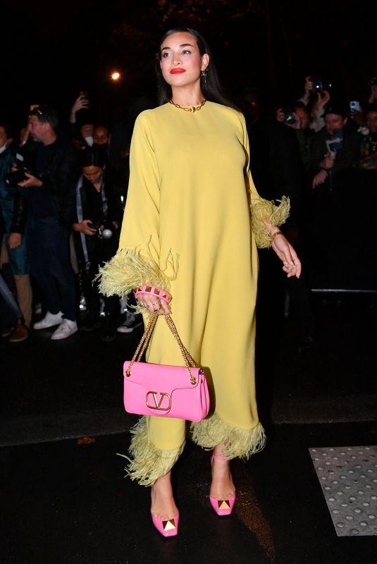 CAMELIA JORDANA at Valentino Womenswear Spring/Summer 2022 Show at Paris Fashion Week 10/01/2021