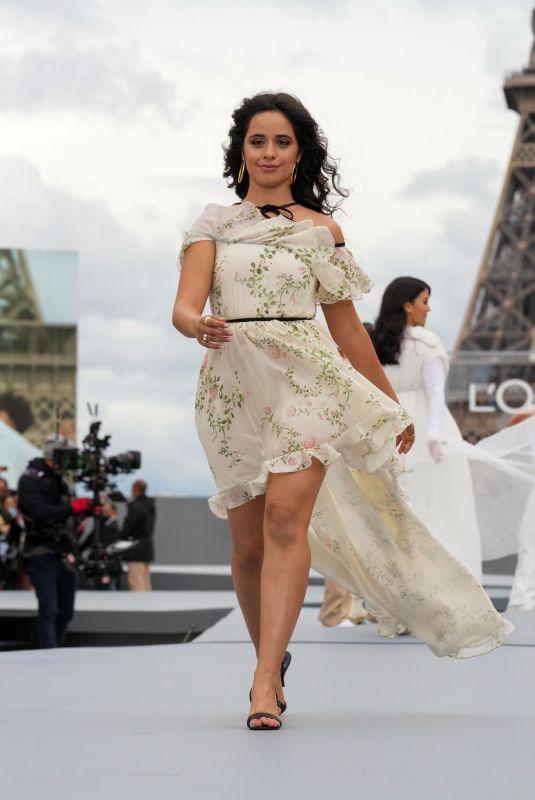 CAMILA CABELLO at Le Defile L'Oreal Paris 2021 Show at Paris Fashion Week 10/03/2021