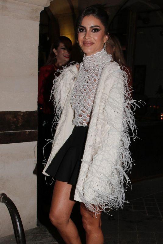 CAMILA COELHO Leaves Valentino Party at Paris Fashion Week 10/01/2021