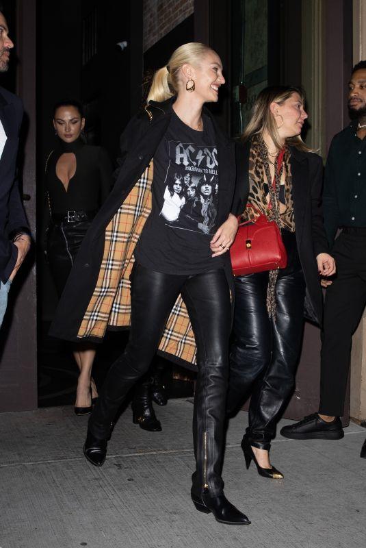 CANDICE SWANEPOEL Celebrates Her 33rd Birthday at Zero Bond in New York 10/21/2021