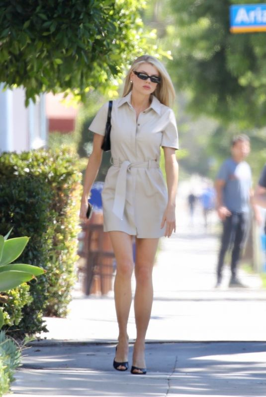 CHARLOTTE MCKINNEY Out in Los Angeles 10/01/2021