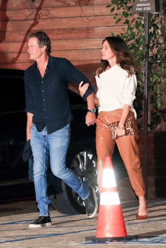 CINDY CRAWFORD and Rande Gerber Leaves a Party at Soho House in Malibu 10/16/2021