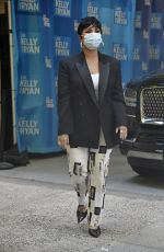 DEMI LOVATO Arrives at Live with Kelly and Ryan in New York 09/30/2021