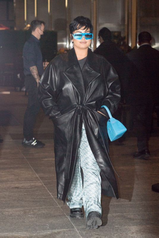 DEMI LOVATO Out for Dinner at Nobu in New York 09/30/2021