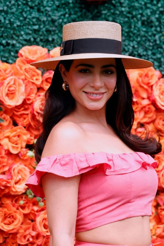EMERAUDE TOUBIA at Veuve Clicquot Polo Classic Los Angeles at Will Rogers State Historic Park in Pacific Palisades 10/02/2021