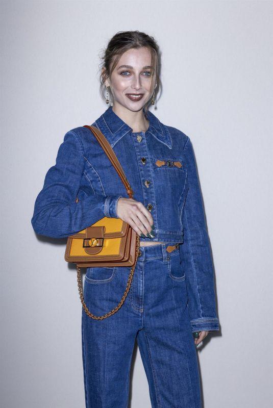 EMMA CHAMBERLEIN at Louis Vuitton Womenswear Spring/Summer 2022 Show at Paris Fashion Week 10/05/2021