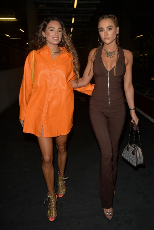 GEORGIA HARRISON and BELLA KEMPLEY Night Out in London 10/02/2021