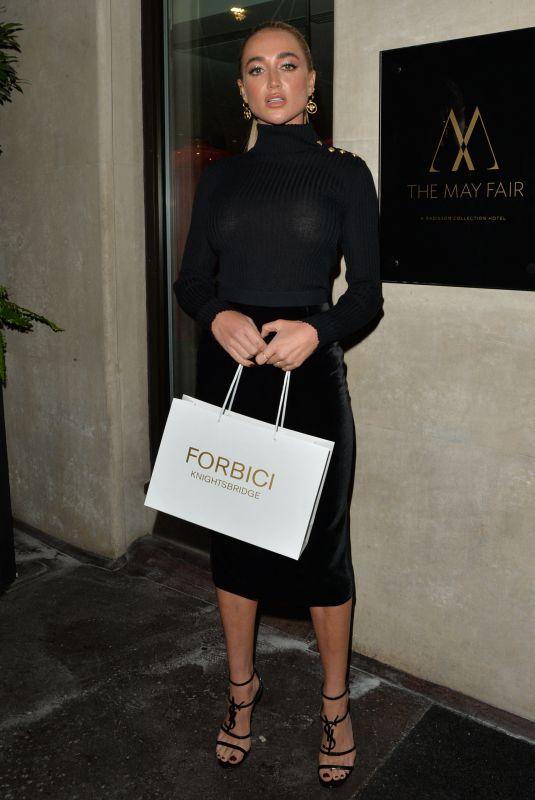 GEORGIA HARRISON Leaves Mayfair Hotel in London 09/30/2021