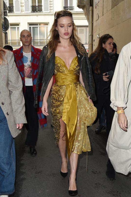 GEORGIA MAY JAGGER Arrives at Vivienne Westwood Show at Paris Fashion Week 10/02/2021