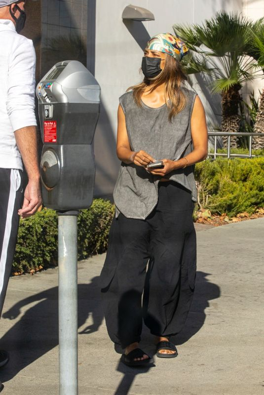 HALLE BERRY Out in Beverly Hills 10/12/2021