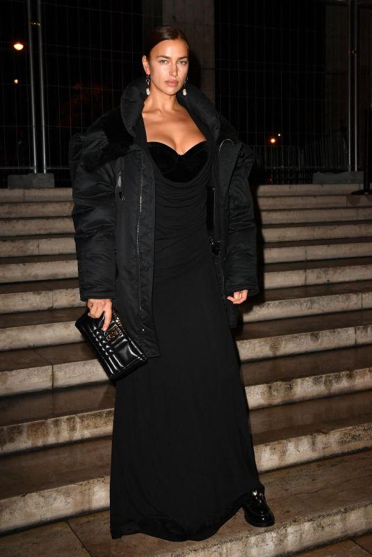 IRINA SHAYK Leaves Palais de Tokyo in Paris 10/18/2021