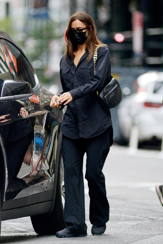 IRINA SHAYK Out and About in New York 10/12/2021