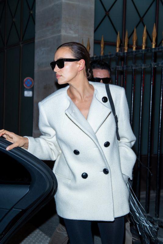 IRINA SHAYK Out at Paris Fashion Week 09/30/2021
