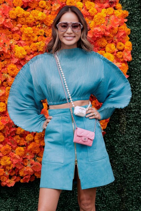 JAMIE CHUNG at Veuve Clicquot Polo Classic Los Angeles at Will Rogers State Historic Park in Pacific Palisades 10/02/2021