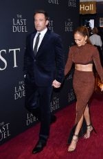 JENNIFER LOPEZ and Ben Affleck at The Last Duel Premiere in New York 10/09/2021