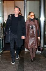 JENNIFER LOPEZ and Ben Affleck Leaves Mandarin Hotel in New York 10/10/2021
