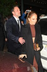JENNIFER LOPEZ and Ben Affleck Leaves The Last Duel Premiere Afterparty in New York 10/09/2021