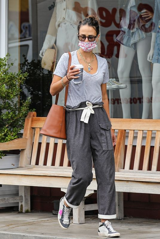JORDANA BREWSTER Out for Morning Coffee in Brentwood 10/07/2021
